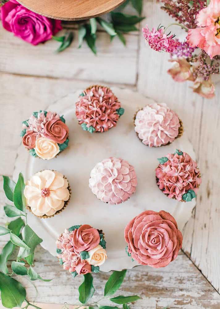 Um jardim de cupcakes