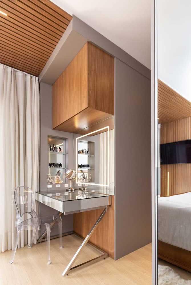 A fita de LED é ótima para quem deseja um visual mais moderno para o quarto