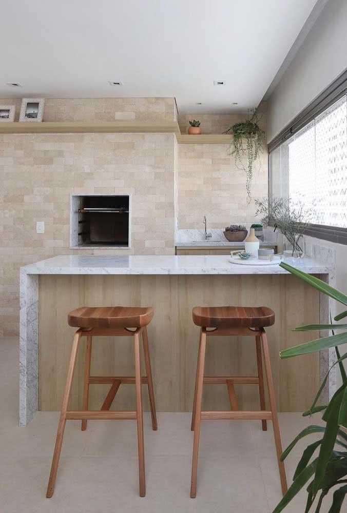 Churrasqueira embutida para apartamento com grelhas removíveis