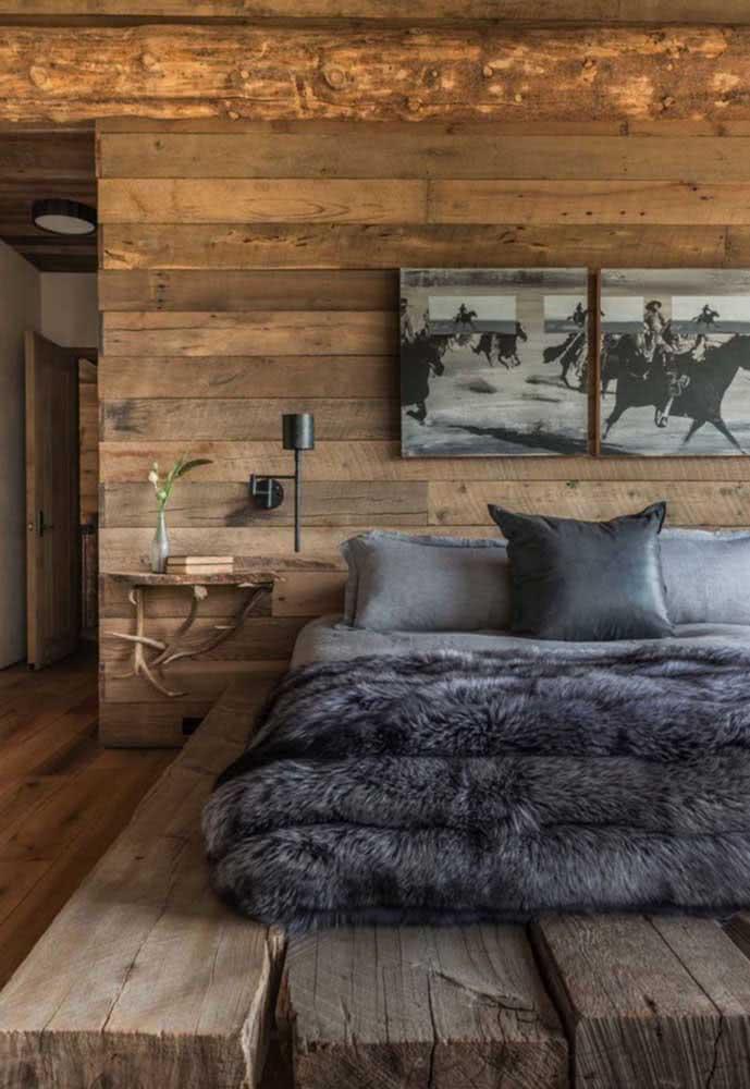 Uma inspiração de quarto para lembrar a vida no campo