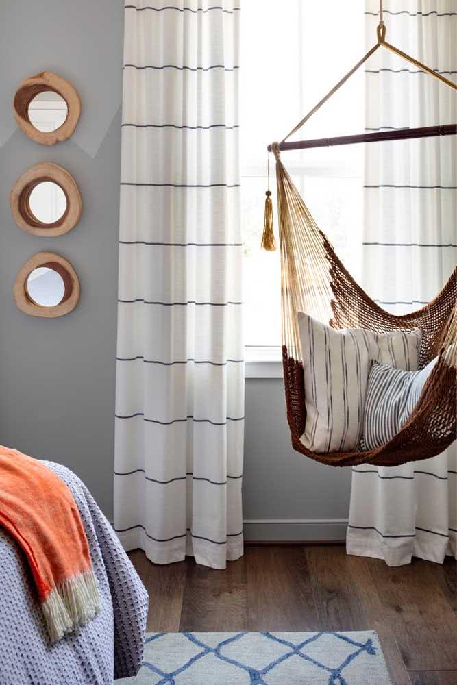 Você não precisa de um quarto totalmente rústico, pode adicionar apenas alguns detalhes do estilo
