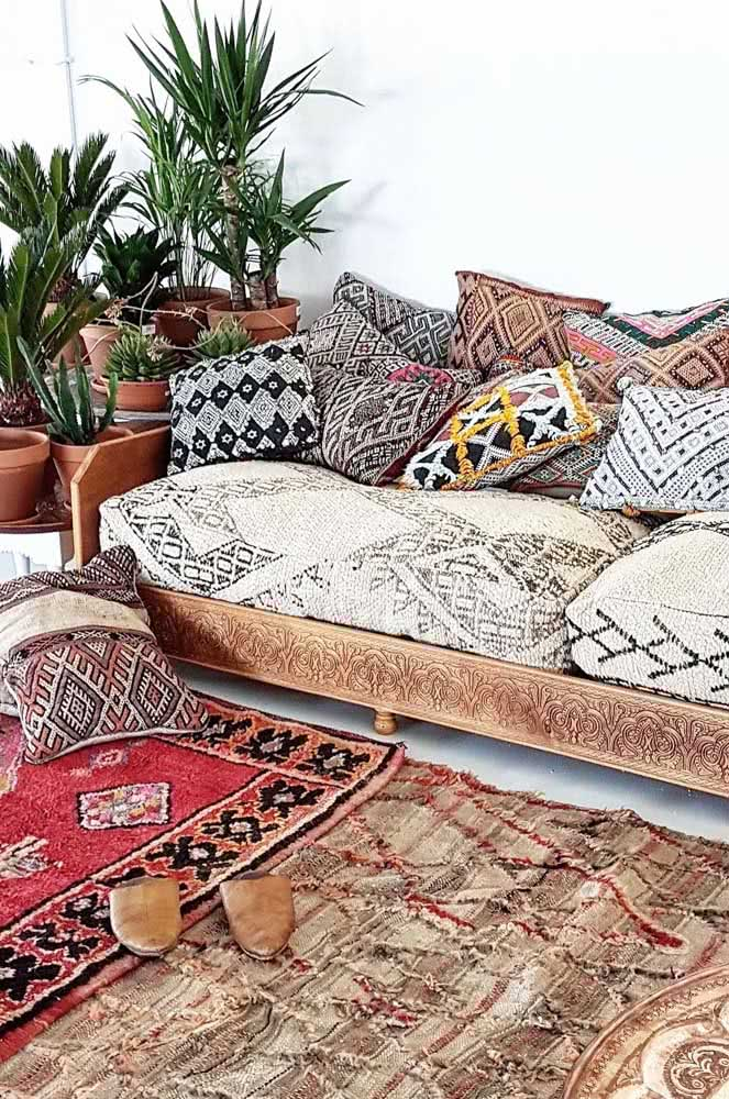 Receptividade e conforto são itens fundamentais na decoração de estilo árabe