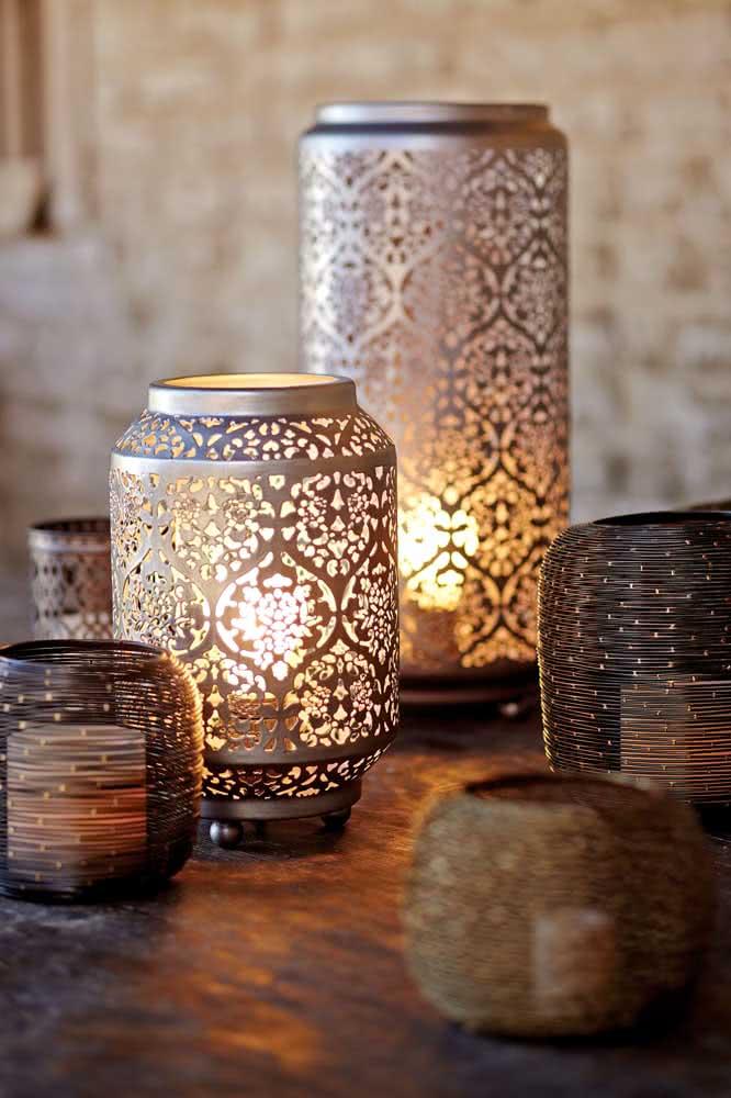 Lanternas árabes para deixar qualquer ambiente mais bonito e aconchegante