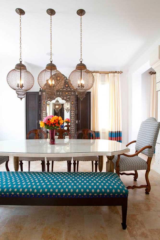 Decoração árabe para sala de jantar: conforto e refinamento