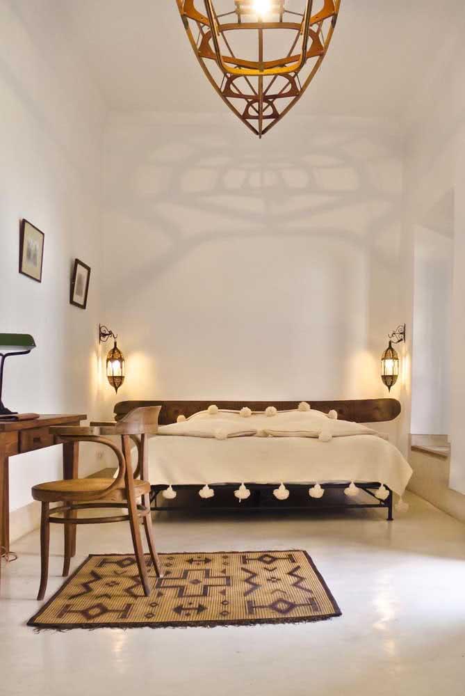 Decoração árabe simples e aconchegante no quarto