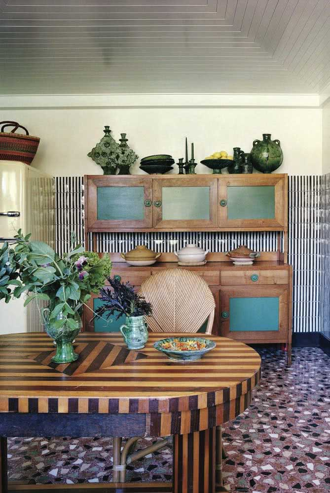 Nessa cozinha árabe os detalhes é que garantem o estilo da decoração