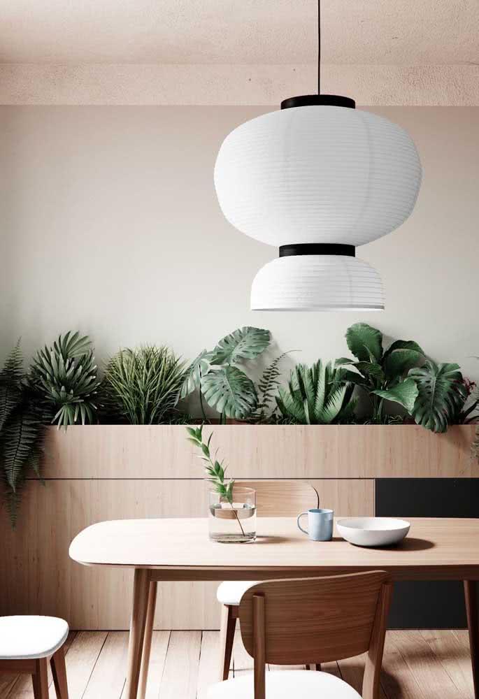 Lanterna japonesa em estilo clean e minimalista