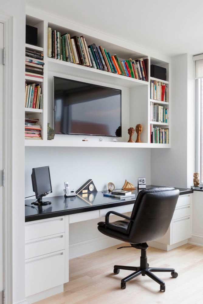 Projeto que cabe tanto para um home office, quanto para um cantinho de estudos