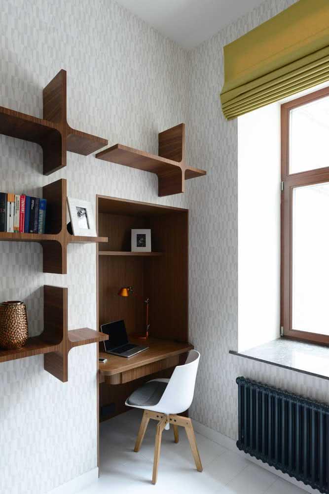 Ou quem sabe um nicho na parede resolve o seu espaço