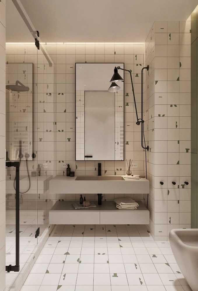 E da cor que melhor se encaixa com a proposta do seu banheiro