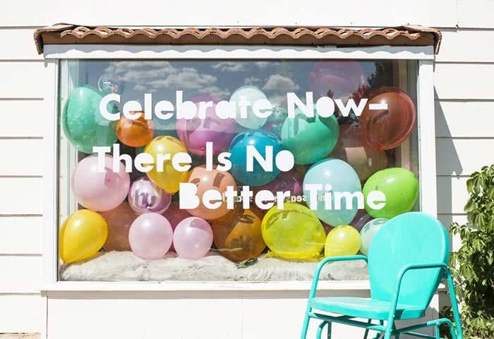 Balões metalizados para uma decoração super estilosa para a festa.