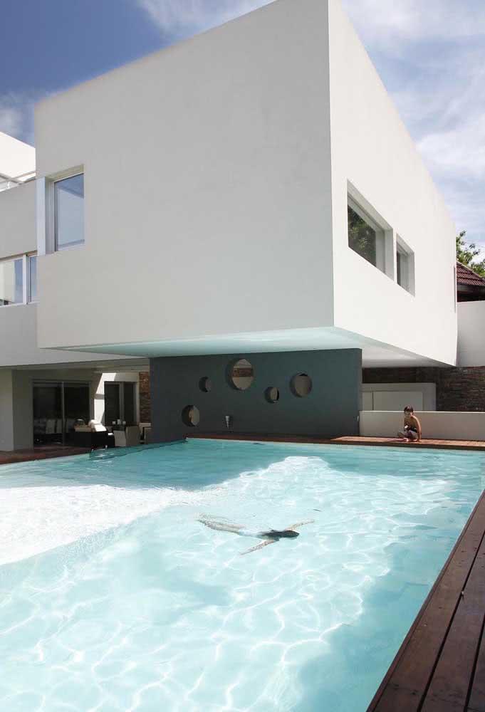 Piscina de fibra grande para uma residência super luxuosa