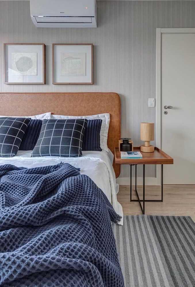 Com um pouco mais de despojamento, a cama fica moderna