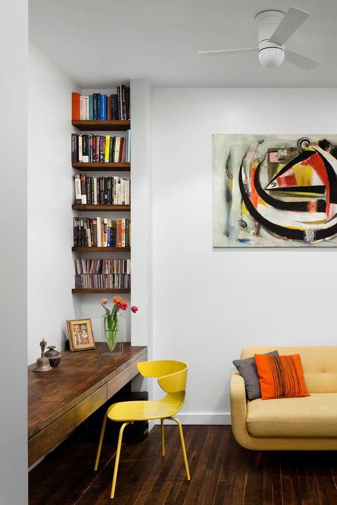 Design orgânico para essa outra cadeira amarela de escritório