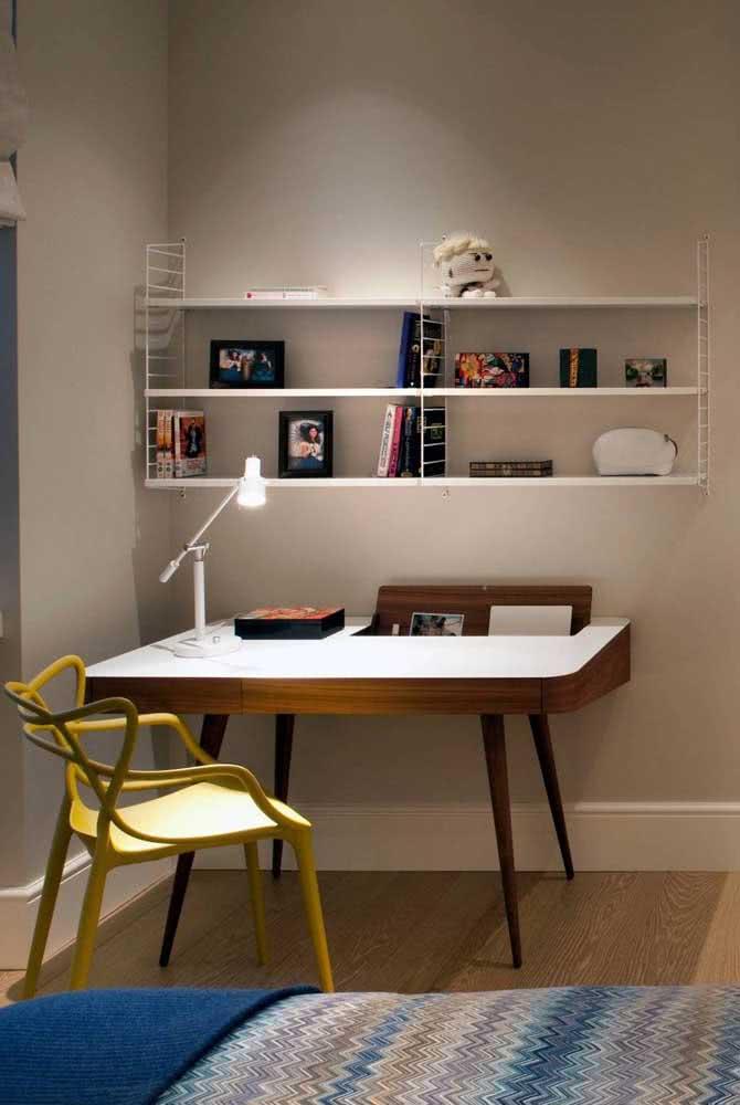 Cadeira amarela Allegra para a escrivaninha do quarto. A melhor forma de unir conforto com design