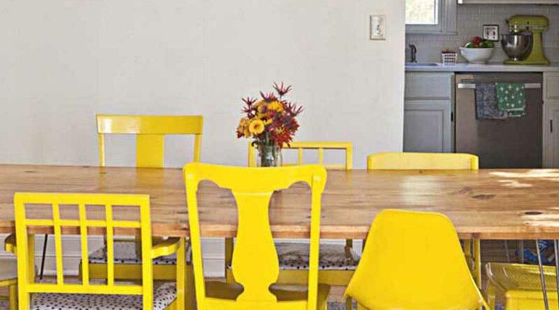 Cadeira amarela: como usar na decoração, dicas e fotos para se inspirar