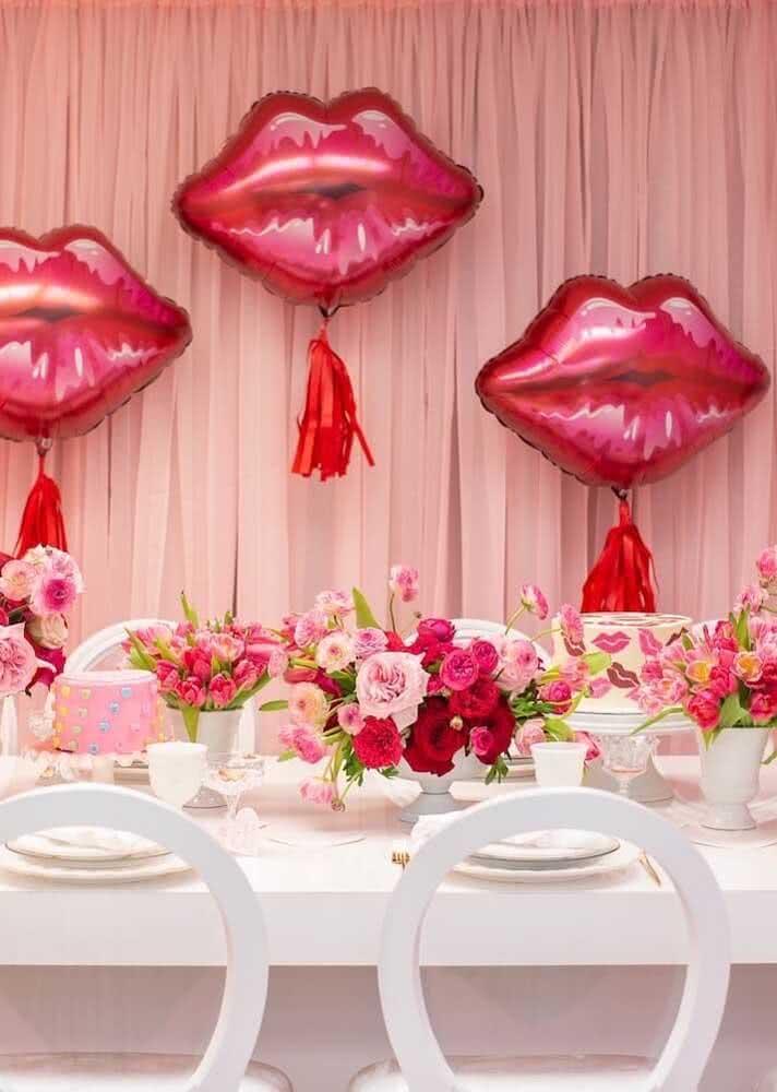 Beijos na decoração!