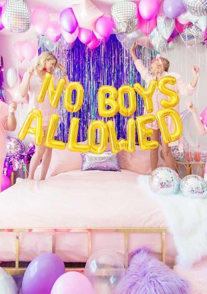 Meninos não são permitidos!