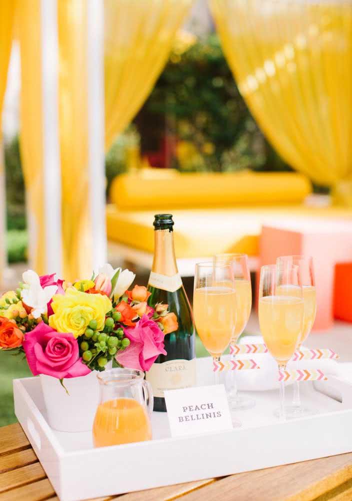 Mas na hora do brinde, tenha champanhe em mãos
