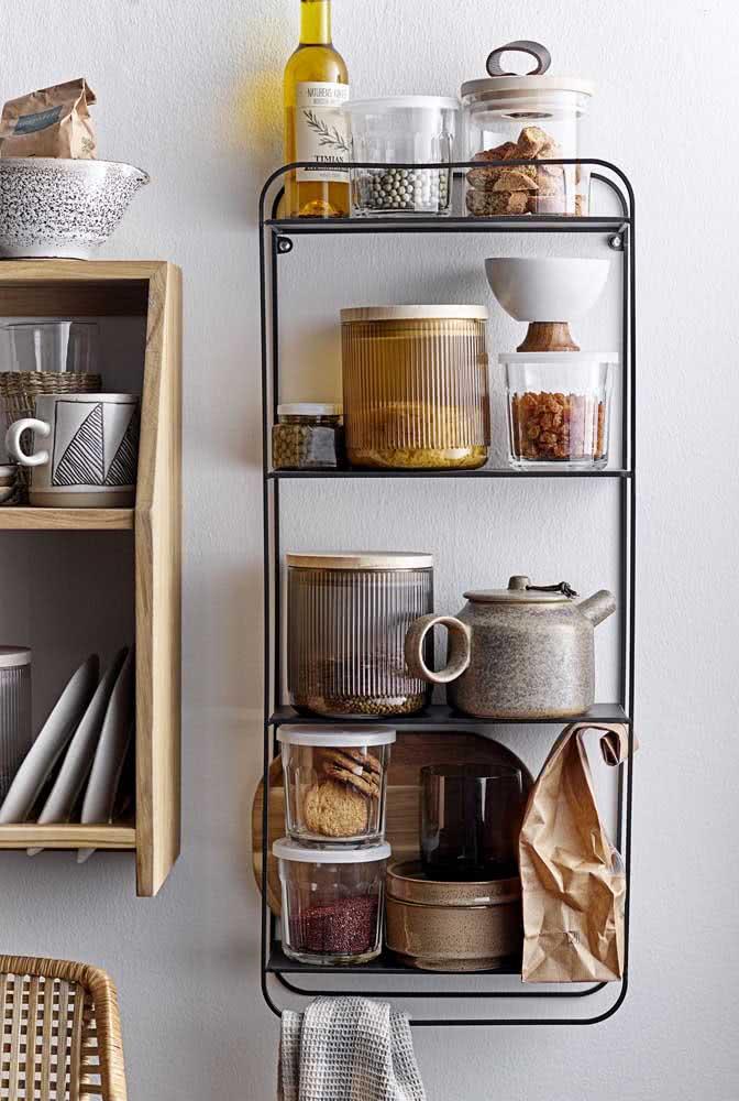 O jeito mais lindo e estiloso de armazenar potes e mantimentos na cozinha