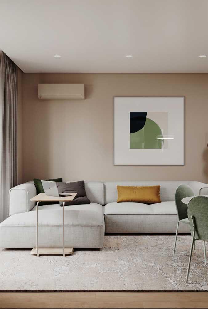 Cor pérola na parede da sala: um jeito clássico e infalível de usar a cor na decoração