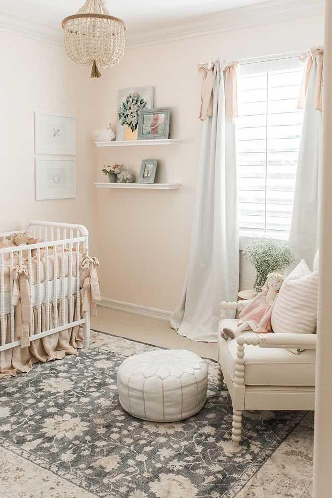 Quer trazer calma, conforto e aconchego para o quarto de bebê? Pinte-o na cor pérola