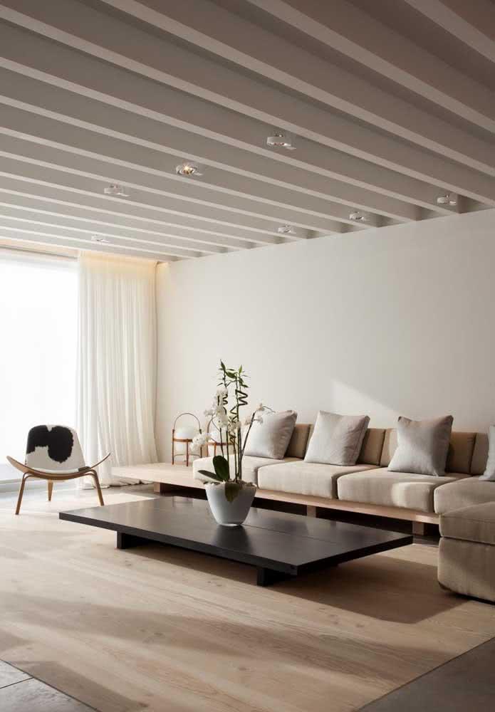 Para uma sala de estar elegante invista na cor pérola. Não tem como dar errado!