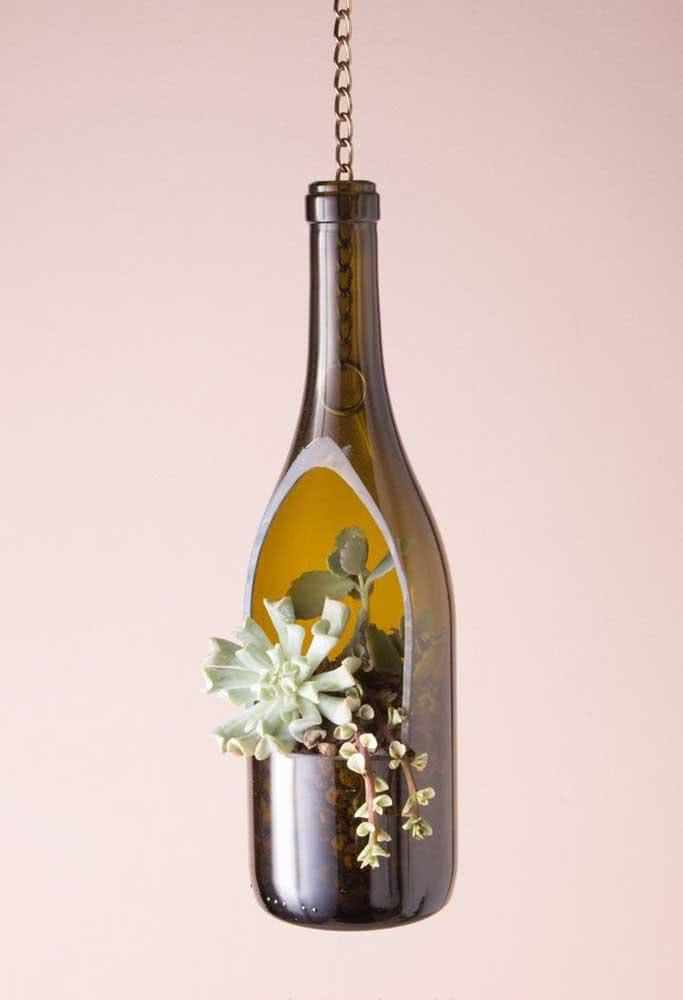 Já pensou fazer um terrário de suculentas em uma garrafa?