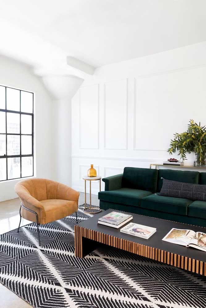 Atemporal, o tapete preto e branco acompanha qualquer tendência