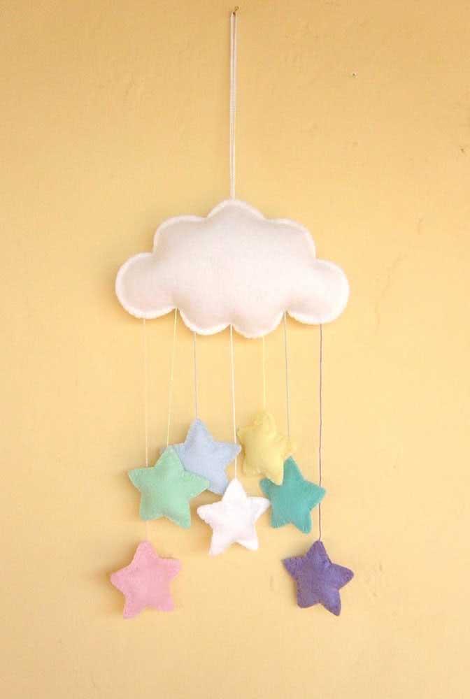 Nuvens e estrelas para o céu ficar completo