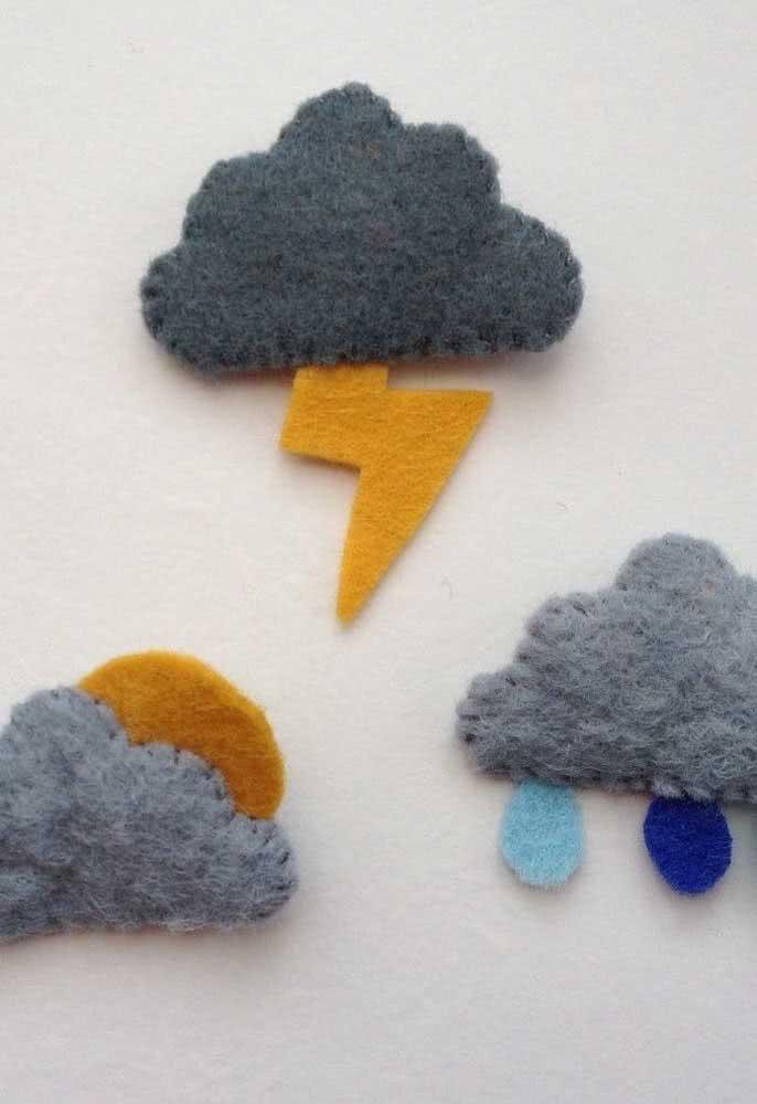 Nuvens de feltro para os dias chuvosos, afinal eles também tem sua beleza