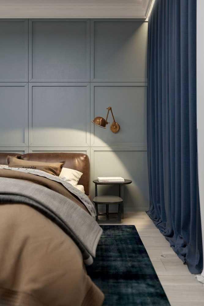 Cores para um quarto de casal clássico.