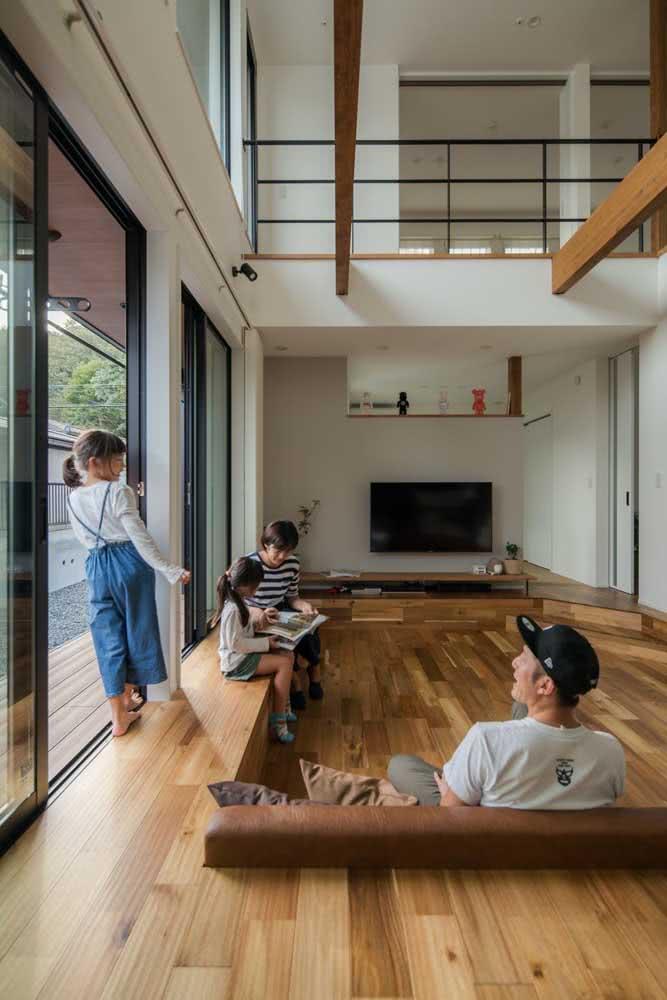 Integração e iluminação são palavras chaves na arquitetura de uma casa japonesa