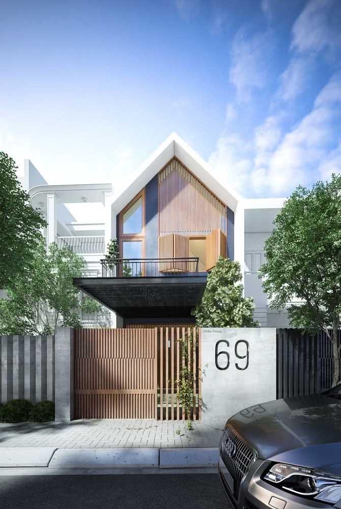 A madeira também se faz presente nas fachadas das casas japonesas