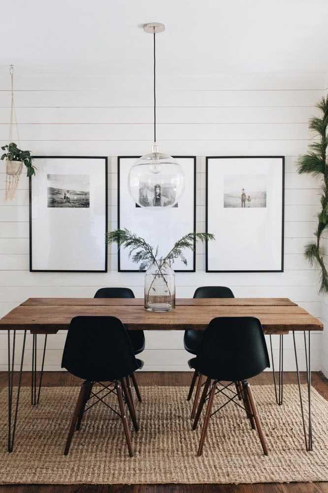 Industrial, moderna e rústica: cabe tudo isso na mesa de madeira