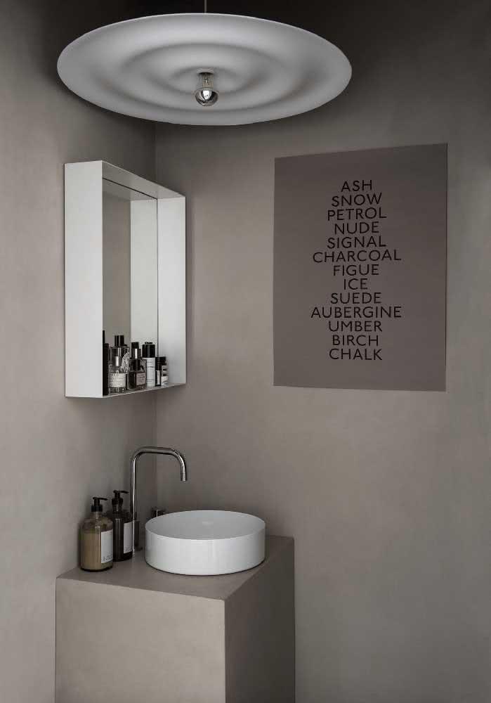Banheiro cinza inspirado no minimalismo