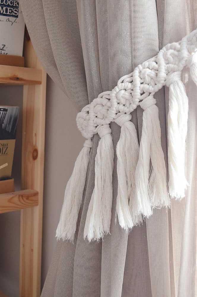 Prendedor de cortina em crochê: outro clássico