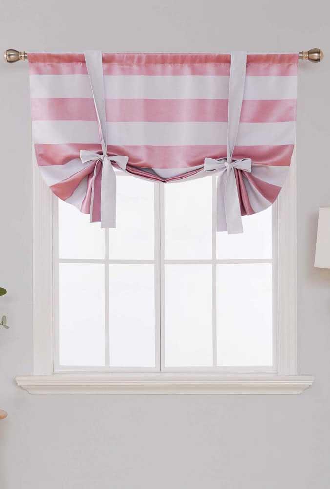 Um jeito diferente de amarrar a cortina