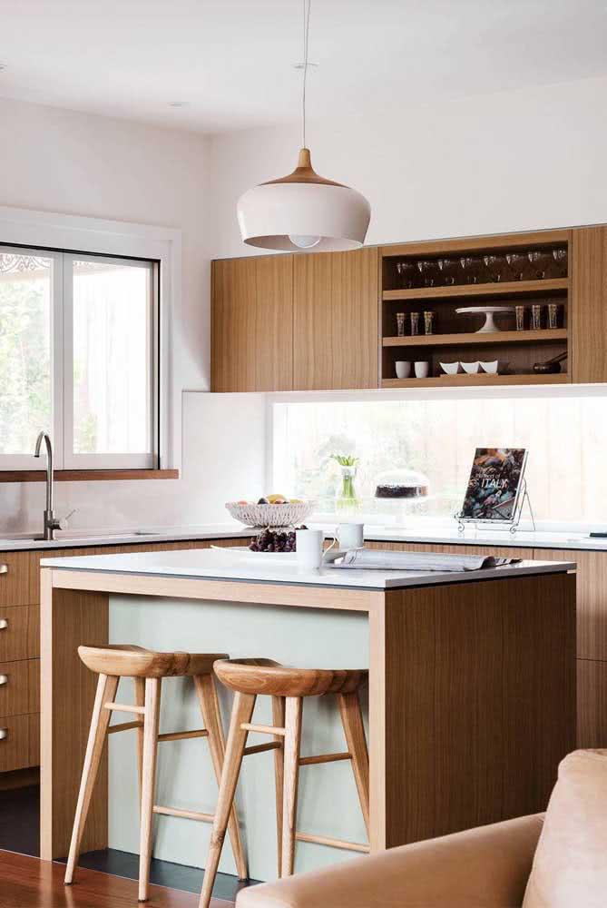Branco e madeira: uma dupla imbatível na decoração!