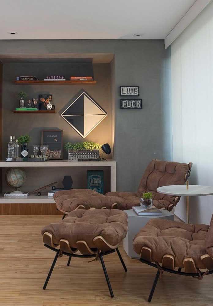 Uma dupla para esbanjar conforto para sala de estar