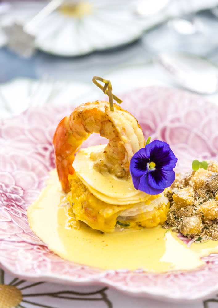 Um pouco de carinho e delicadeza na apresentação do prato de páscoa
