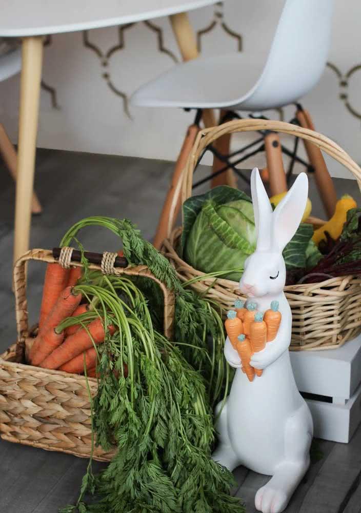 Lembre-se de trazer as cenouras para ele!