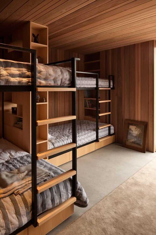 Dupla de beliches: perfeito para quarto de hospedes