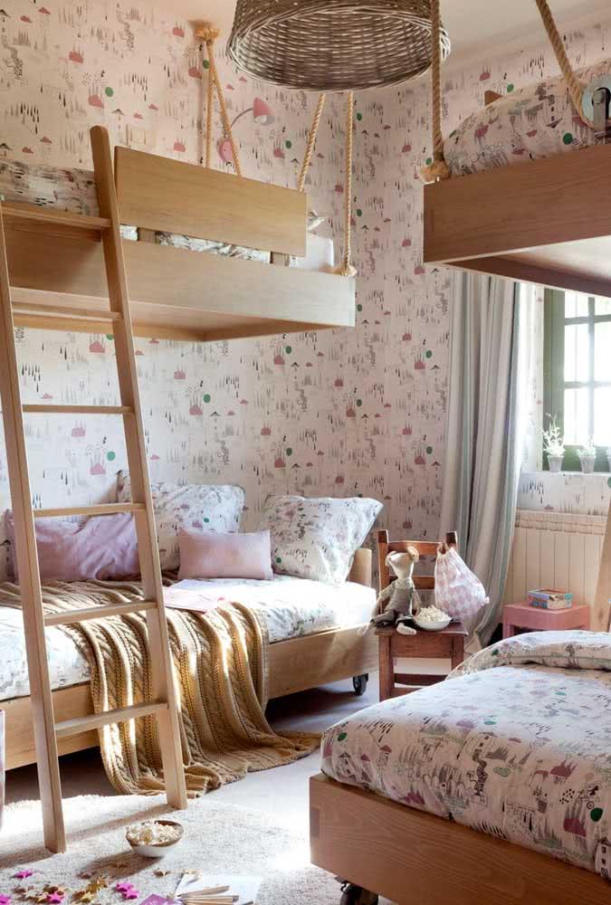 Topa uma cama beliche planejada suspensa?