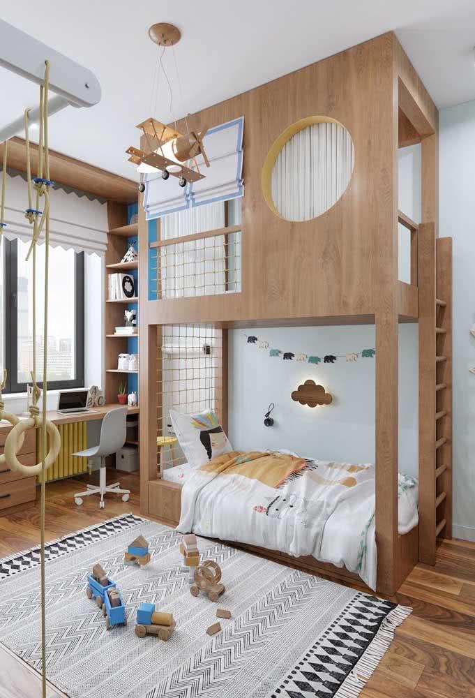 Poderia ser só mais um beliche, mas é um espaço recreativo!
