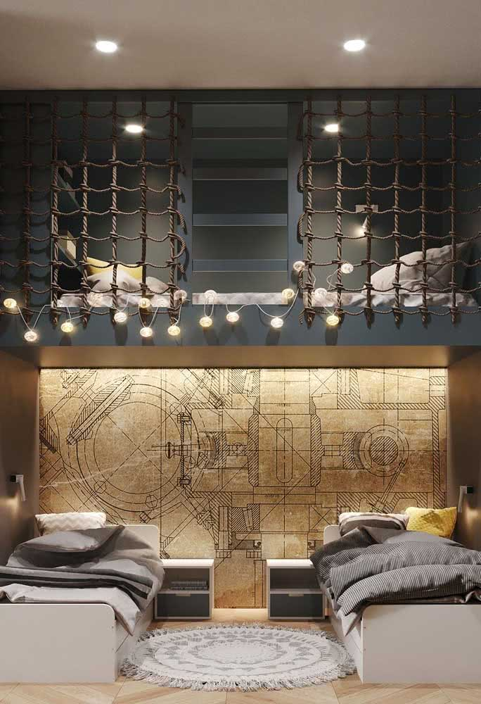 Difícil vai ser alguém querer dormir com uma cama beliche dessas!