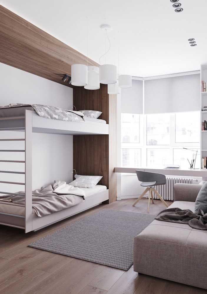 Beliche planejada simples e moderna para o quarto adolescente