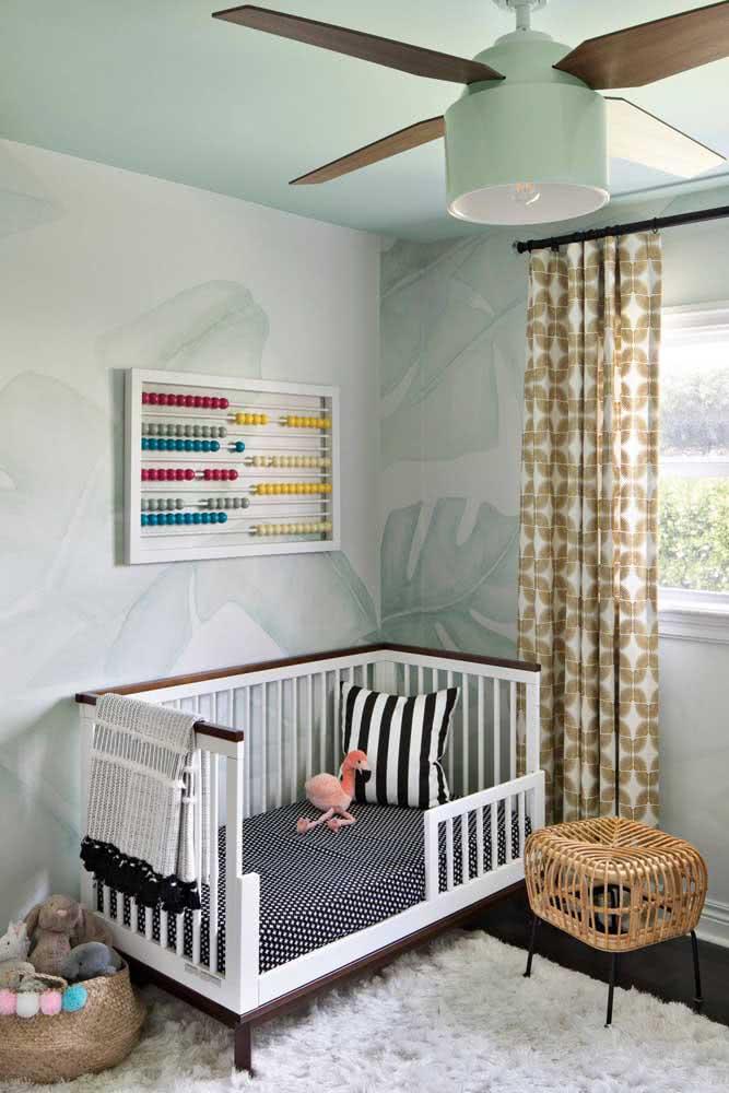 Manta de crochê para bebê em preto e branco: o parzinho perfeito do lençol no berço