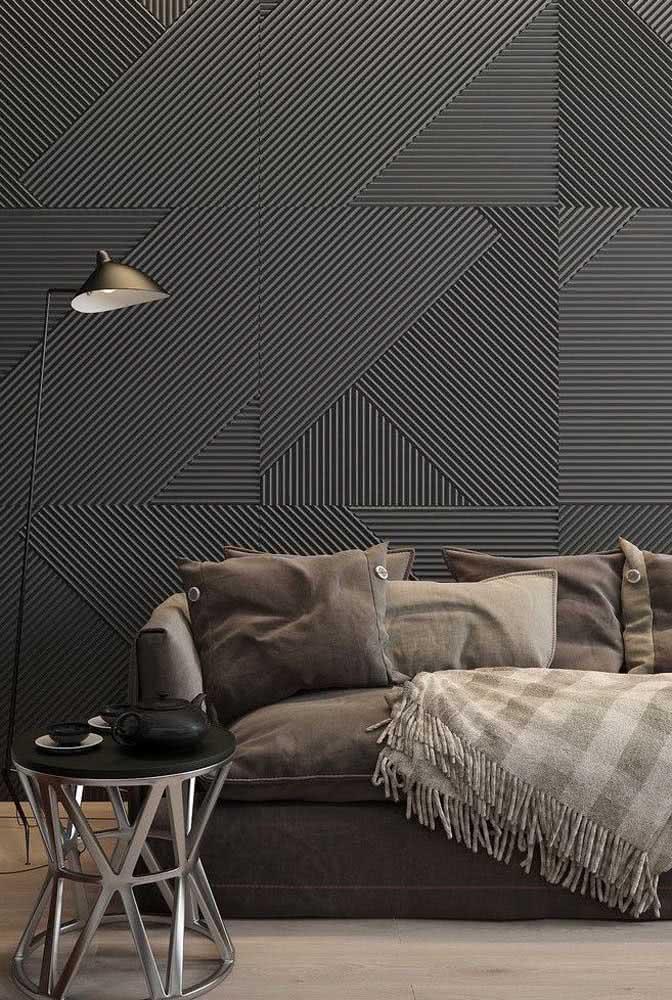 Textura de parede com linhas na diagonal formando um desenho geométrico incrível.