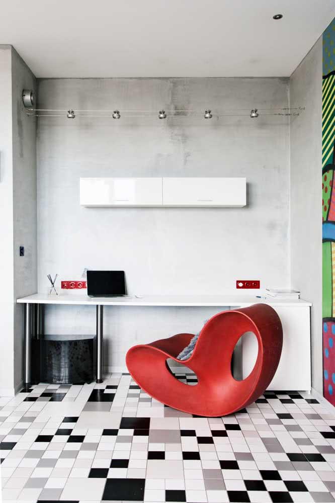Perfeito para o home office: textura de parede suave para deixar o ambiente mais atrativo ao trabalho.